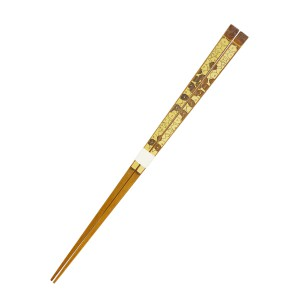 別府竹摺り漆箸-椿
